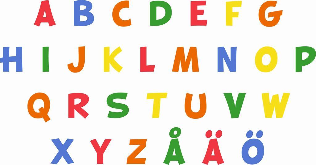 En bokstav betyder sa mycket